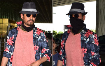 Irrfan Khan Snapped At The Airport; Yet Again Covers His Face