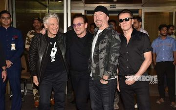 Irish Band U2 Is In Town And Bono And The Boys Are Killing It At Mumbai Airport With Their Charm