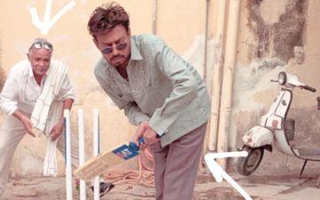 इरफान खान पर चढ़ा आईपीएल का बुखार, फिल्म के सेट पर क्रिकेट खेलते दिखाई दिए