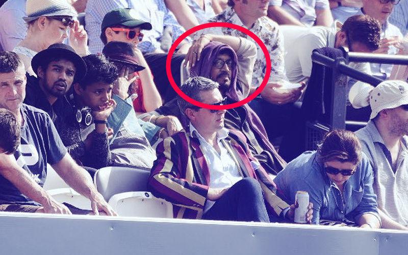 क्या लंदन के स्टेडियम में इंग्लैंड vs पाकिस्तान का मैच देख रहा ये शख्स इरफान खान है?
