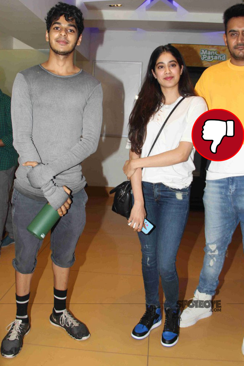 ishaan khattar jhanvi kapoor spotted post movie screening