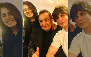 It's A Happy Reunion As Shah Rukh Khan Visits Rishi-Neetu Kapoor Yet Again In NYC