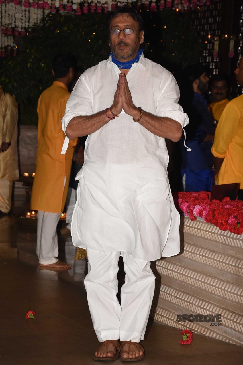 jackie shroff at ambani ganpati celebration