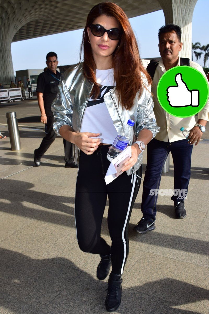 jacqueline fernandez at the airport