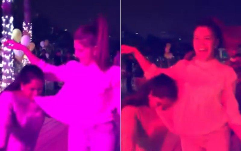 बेटे आहिल के जन्मदिन पर सलमान की तरह अर्पिता ने भी जैकलीन संग किया डांस, देखें वीडियो