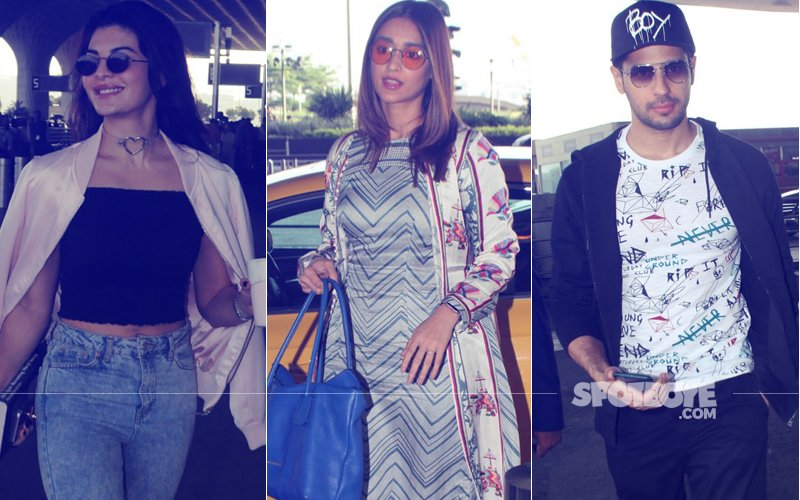 AIRPORT SPOTTING: Jacqueline Fernandez, Ileana D'Cruz & Sidharth Malhotra Travel In Style