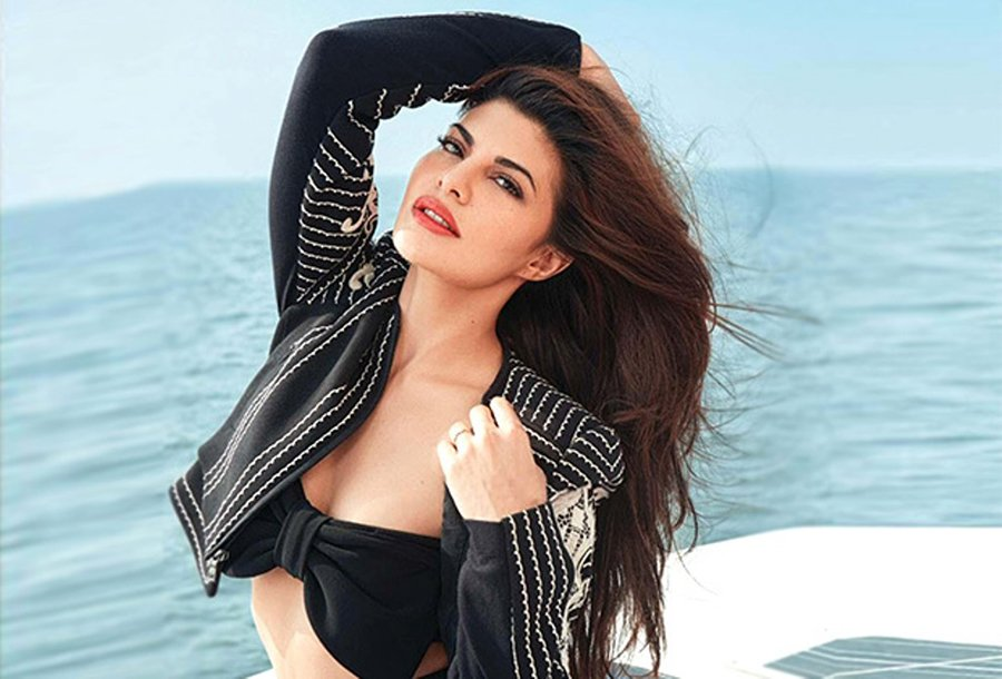 jacqueline fernandez poses for a photo shoot