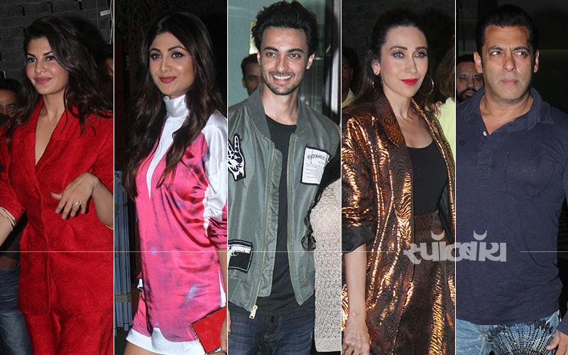 आयुष शर्मा की बर्थडे पार्टी में पहुंचे वरुण धवन, सलमान खान, शिल्पा शेट्टी, करिश्मा कपूर और कई स्टार्स