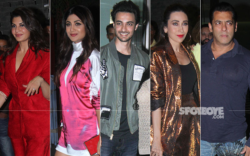 Jacqueline Fernandez, Shilpa Shetty, Karisma Kapoor, Varun Dhawan, Salman Khan Attend Aayush Sharma's Birthday Bash