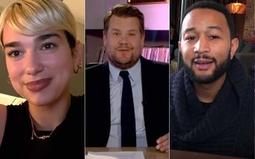 James Corden Virtually Connects With Billie Eilish, John Legend, BTS, Dua Lipa From His Garage For 'Homefest: Late Late Show'