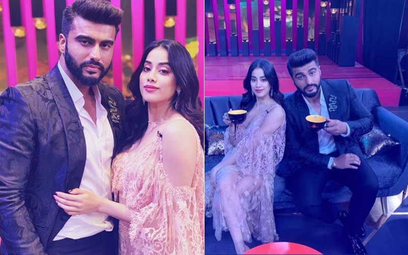Arjun-Janhvi Kapoor Shoot For Koffee With Karan 6; Click To Know Who Else Will Sip KJo's Coffee