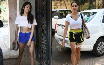 Janhvi Kapoor And Sara Ali Khan Step Out In Crop-Tops And Hot Shorts- Which Diva's Post Workout Look Impressed You More?
