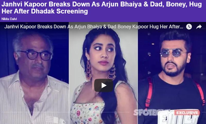 janhvi kapoor breaks down after watching dhadak