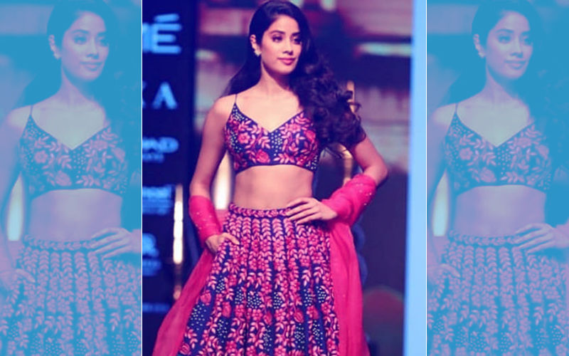 Lakme Fashion Week 2018, Day 3: Janhvi Kapoor Burns The Ramp In A Blue And Pink Lehenga