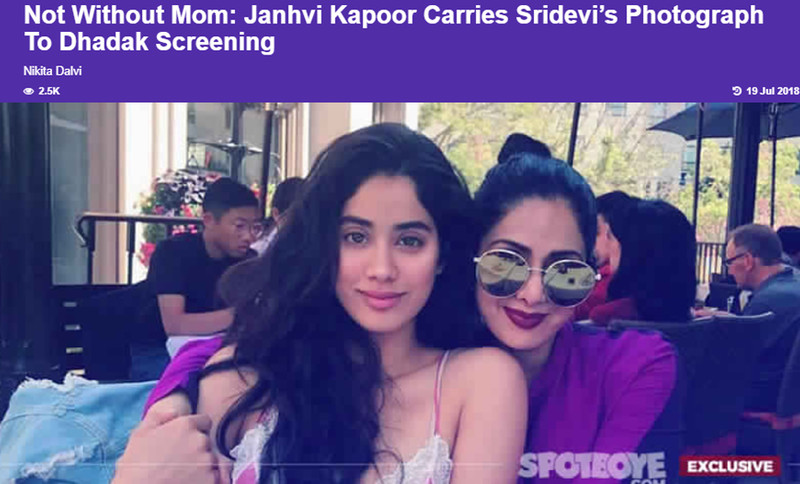janhvi kapoor carries mom picture with her