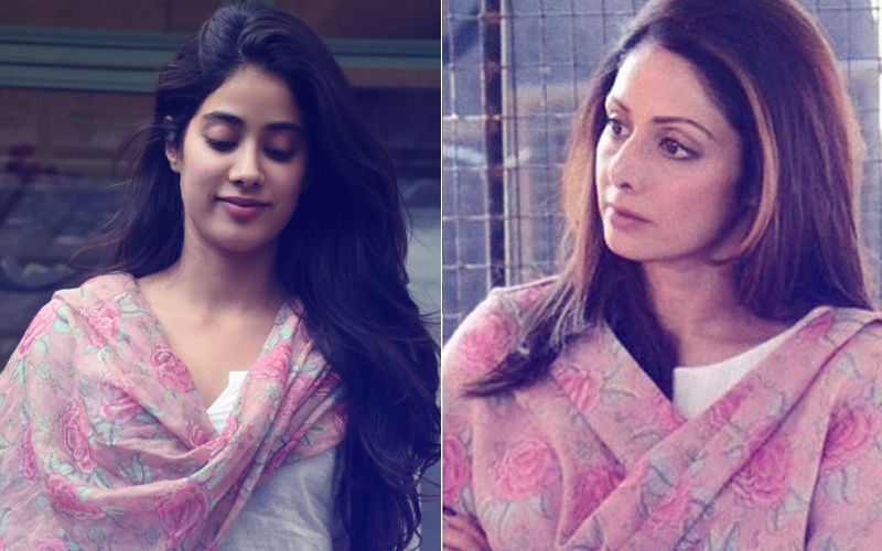 Janhvi Kapoor Drapes Mom Sridevi's Dupatta And The Sight Is Heartwarming