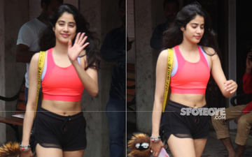 Janhvi Kapoor Flaunts Her Abs As The Actress Gets Snapped Post A Pilates Session
