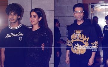 Janhvi Kapoor, Ishaan Khatter, Karan Johar Party To Celebrate Dhadak's Success – View Pics