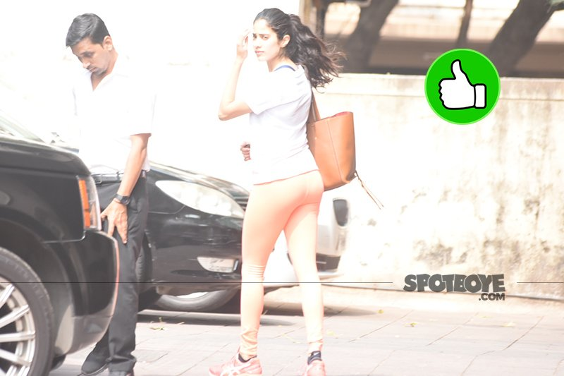 janhvi kapoor snapped post gym session
