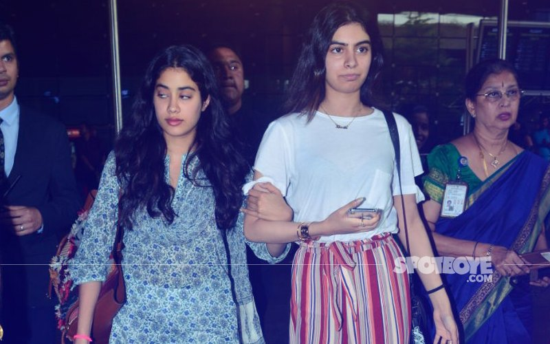 Janhvi Holds On To Khushi As The Sisters Return From Chennai After Hosting Sridevi's Prayer Meet