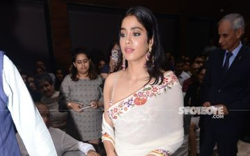 Janhvi Kapoor Stuns In An Off-White Saree At A Book Launch In Delhi