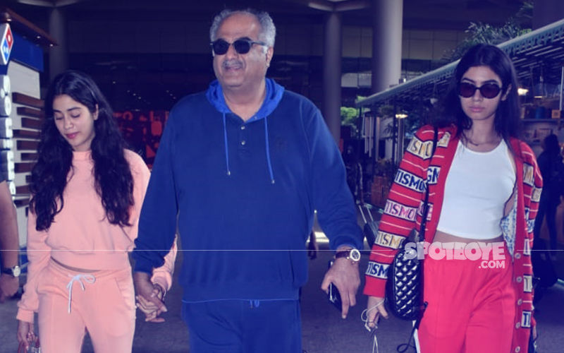 Janhvi & Khushi Kapoor Return From Their London Vacation