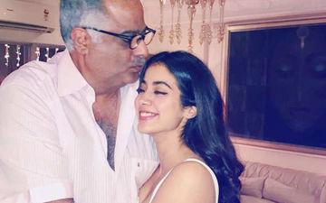 फिल्म 'धड़क' में जान्हवी को देखकर कुछ ऐसा था पिता बोनी कपूर का रिएक्शन