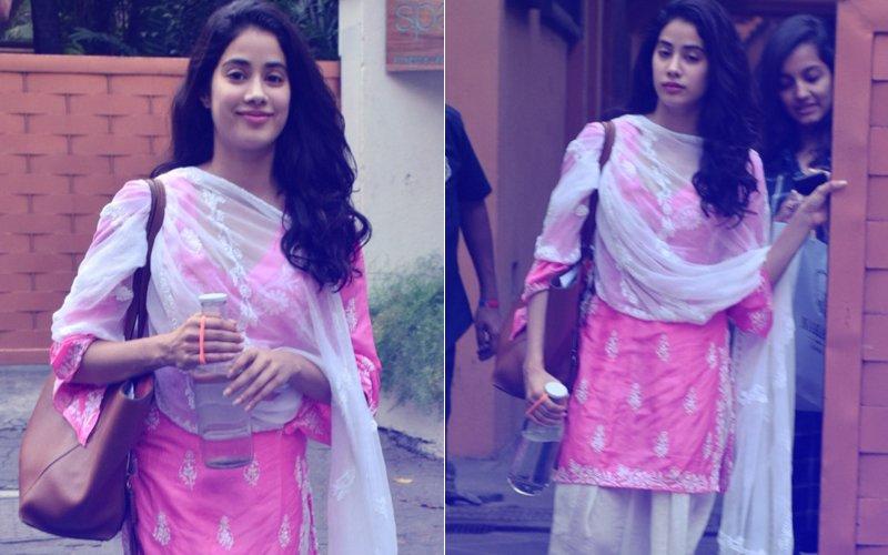 In Pics: Janhvi Kapoor Looks Pretty In Pink Post Dhadak Rehearsals