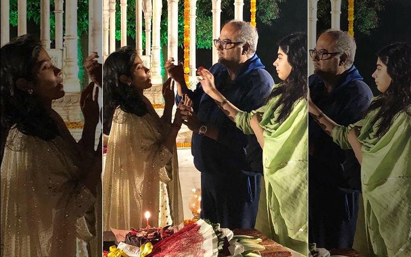 पापा बोनी कपूर और बहन खुशी कपूर के साथ जान्हवी कपूर ने मनाया अपना 22वां जन्मदिन: देखिए तस्वीरें