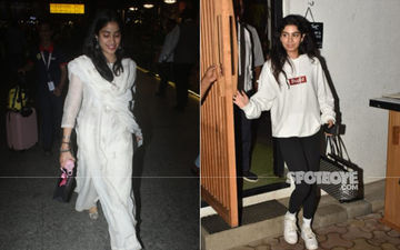 Janhvi Kapoor And Khushi Kapoor's Style Statement In White, Different As Chalk And Cheese - View Pics