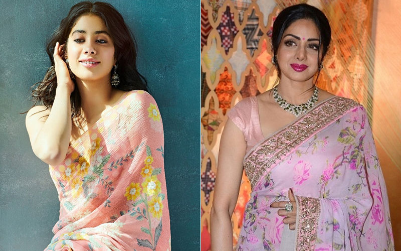 Janhvi Kapoor Looks A Lot Like Sridevi In This 'Peaches And Cream' Anita Dongre Saree