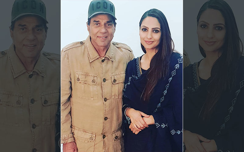 Japji Khaira Shares a Picture with Legendary Bollywood Actor Dharmendra on Instagram