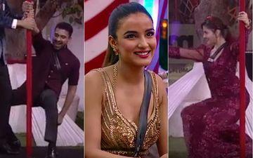 Bigg Boss 14 Somvaar Ka Vaar SPOILER: Jasmin Bhasin, Arshi Khan Get 'Sharamnaak Awards'; Rubina Dilaik, Eijaz Khan Flaunt Sexy Moves During Pole Dance
