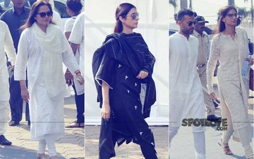 Sridevi Prayer Meet: Jaya Prada, Tabu, Sonam Kapoor & Anand Ahuja Pay Their Last Respects