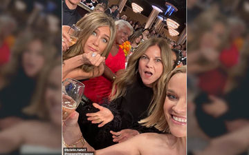Thirsty For Water? Champagne Will Do - Jennifer Aniston-Reese Witherspoon Lift Some Bubbly From Jay Z-Beyonce