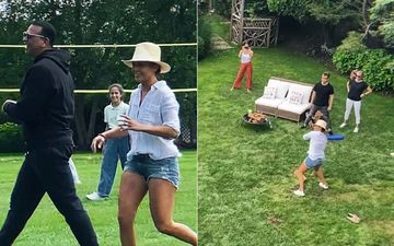 Alex Rodriguez Beats Jennifer Lopez And Her Team As They Face Off In A Baseball Game During 4th Of July Celebration- WATCH