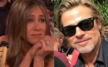 After Reuniting With Jennifer Aniston At Golden Globes, Brad Pitt Is All Smiles As He Exits A Hotel In NY