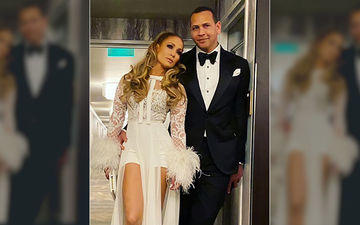 Jennifer Lopez And Finance Alex Rodriguez Are Gearing Up For A LIT Dance; The Hot Couple Pose For A Party
