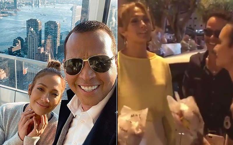Jennifer Lopez Spotted Hanging Out With Her Fiance Alex Rodriguez And Ex-Husband Marc Anthony-VIDEO