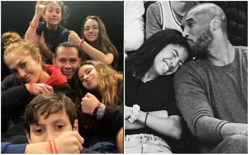 Jennifer Lopez And Alex Rodriguez Along With Kids Cheer For Kobe Bryant's Daughter Gigi On Her Birth Anniversary