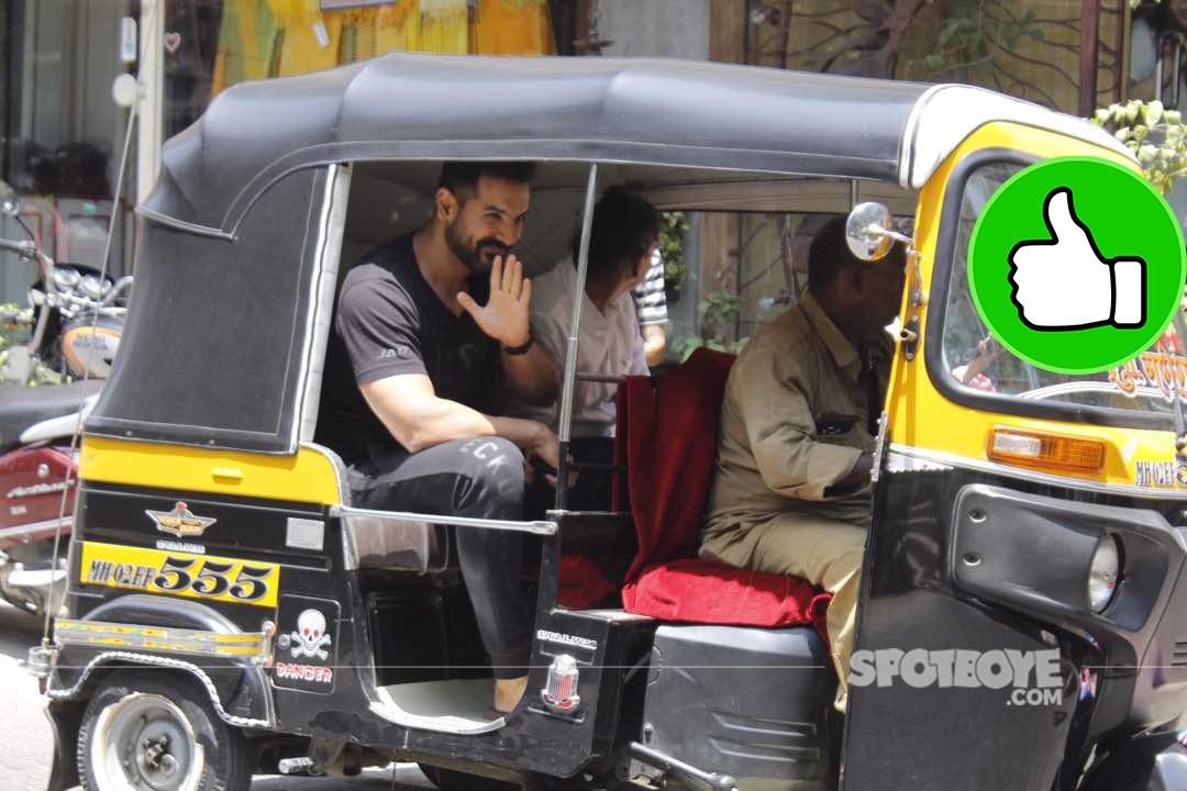 john abraham rickshaw ride