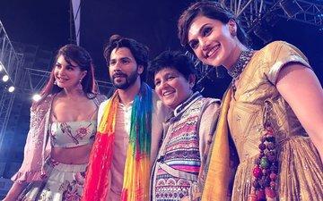 WATCH: Judwaa 2 Stars Varun Dhawan, Taapsee Pannu & Jacqueline Fernandez GATECRASH Falguni Pathak's Dandiya Celebration