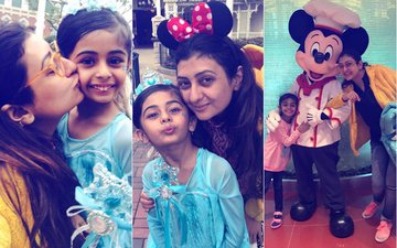 PICS: Juhi Parmar Takes Her Adorable Little Daughter To Disneyland For Her Birthday