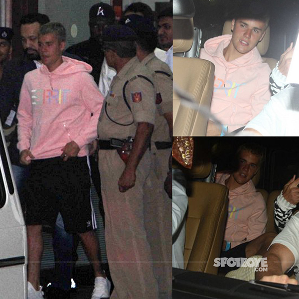 justin beiber spotted exiting the mumbai airport for his purpose tour india 2017