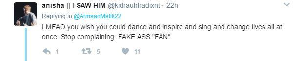 justin bieber fans call armaan malik a fake fan Justin Bieber Purpose World Tour Concert