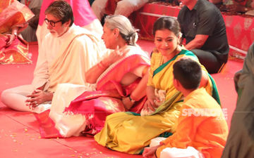 Kabhi Khushi Kabhie Gham  Mini Reunion At Durga Pooja Pandals: Amitabh Bachchan, Jaya Bachchan And Kajol Seek Godess Durga's Blessings