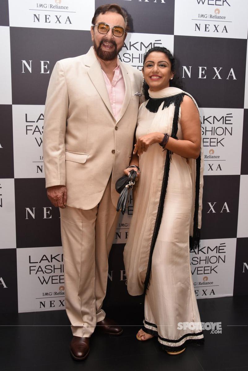 kabir bedi at the lakme fashion week