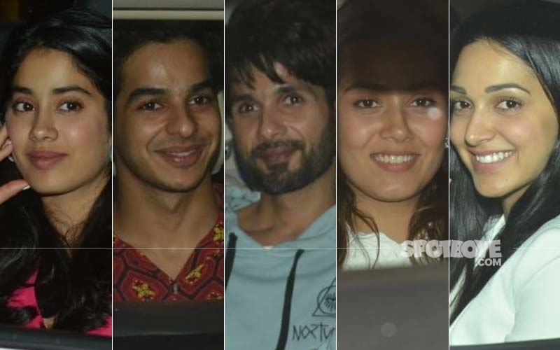Kabir Singh Special Screening: Janhvi Kapoor and Ishaan Khatter Join Shahid Kapoor, Mira Rajput And Kiara Advani At YRF Studio