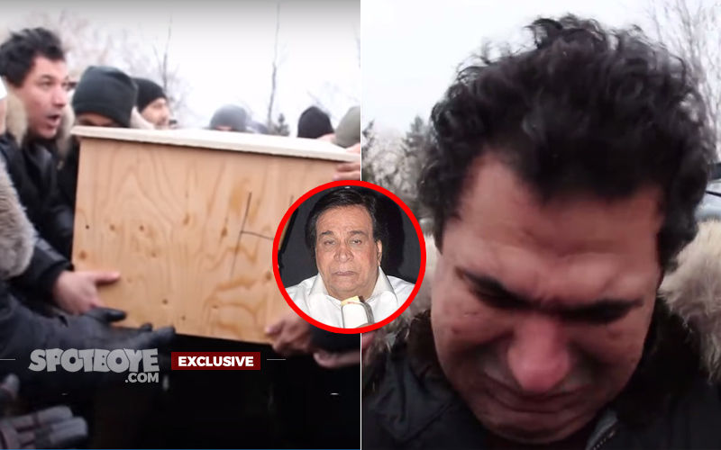 "Kader Khan's Son Breaks Down In Cemetery: ""Dad Tried To Kiss Me In His Last Moments But Failed""--- Video Inside"
