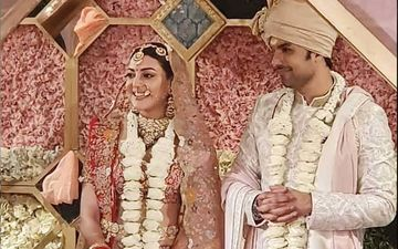 Kajal Aggarwal- Gautam Kitchlu Wedding: Couple's FIRST PICTURE As Bride And Groom Surfaces; Singham Actress Looks Mesmerizing In Bridal Ensemble